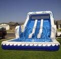 La alta calidad del verano de tobogán inflable con piscina de agua