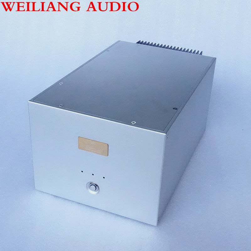 weiliang audio  1pcs separated amplifier aluminum chassis A single channel amplifier case After level amplifier chassis BZ2408 weiliang auido