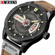 Модные Для мужчин S Часы Curren бренд роскошные кожаные кварцевые Для мужчин часы Повседневное Спорт часы мужской Relogio masculino 8301 Прямая доставка