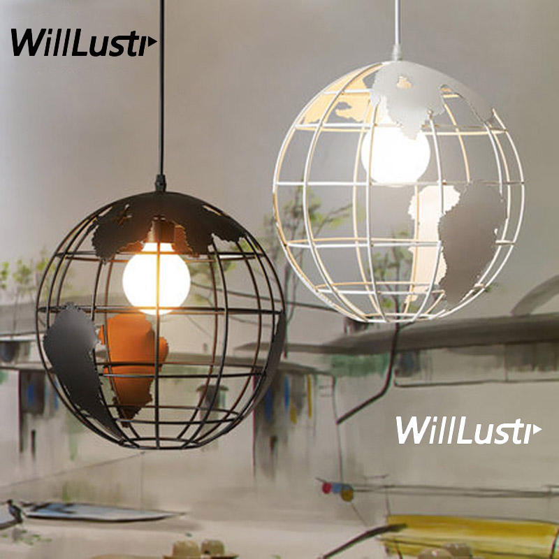 Tellurion Pendant Lamp Iron Globe Suspension Light Restaurant Hotel Bar Cafe Bedroom Dining Room Creative Earth Hanging LightingTellurion Pendant Lamp Iron Globe Suspension Light Restaurant Hotel Bar Cafe Bedroom Dining Room Creative Earth Hanging Lighting