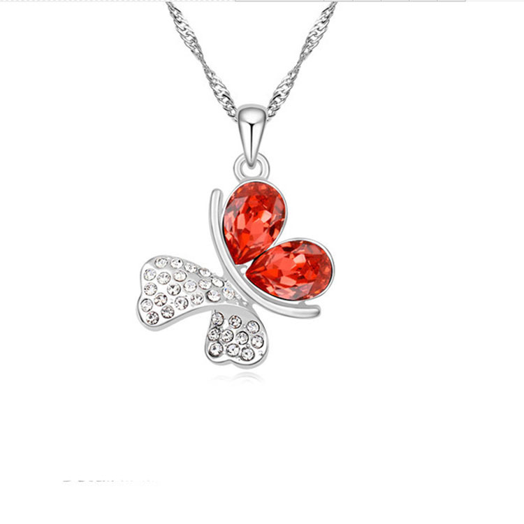Romantic Butterfly crystal Necklace 4
