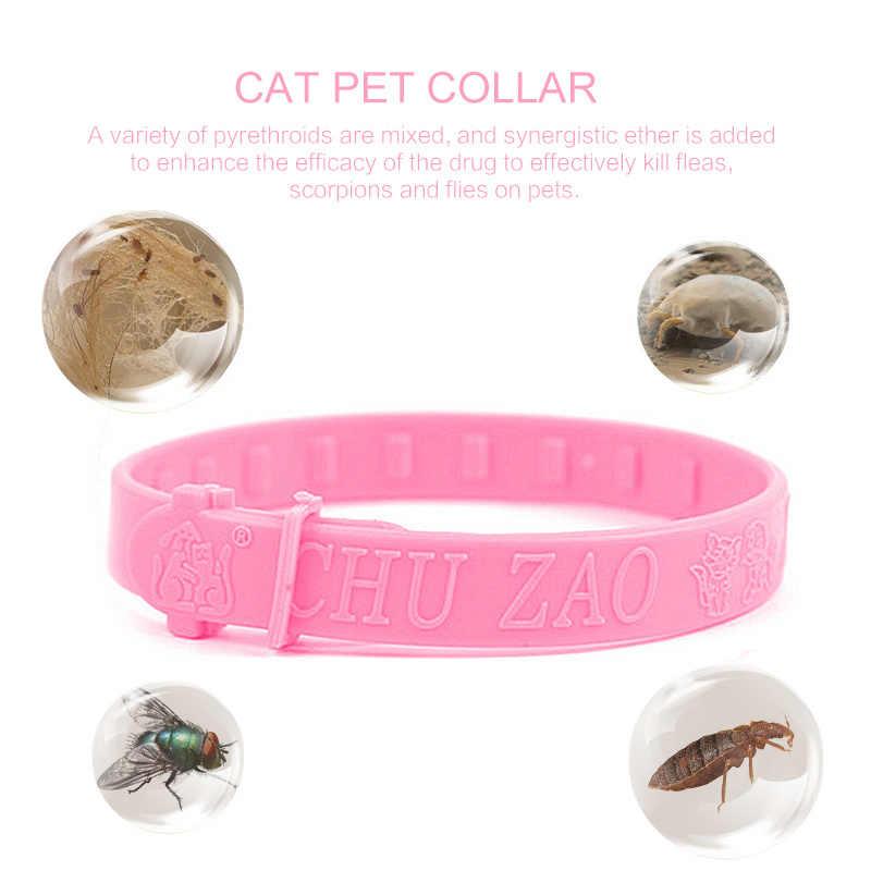 Collar de prevención de pulgas y garrapatas para gatos mosquitos Collar repelente Control de insectos correa ajustable para mascotas