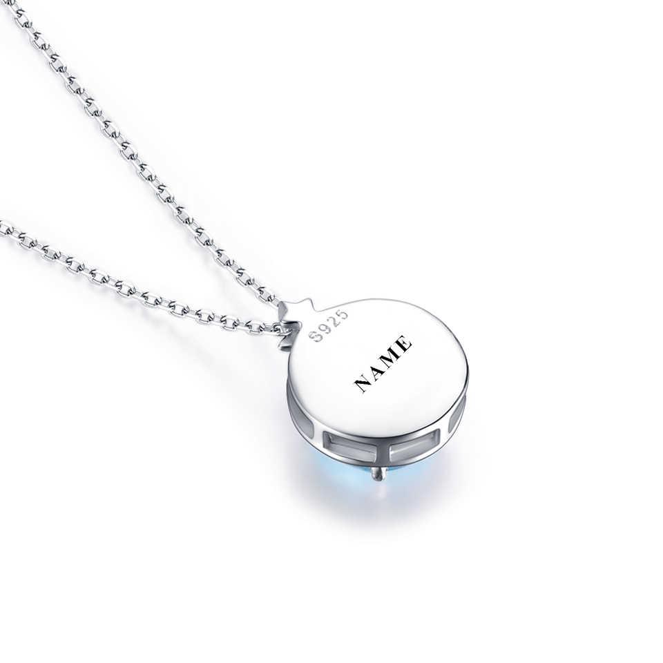 Kuolit небесно-голубые подвески с топазом, ожерелье s для женщин, 925 пробы, серебряные ювелирные изделия, заказной камень, ожерелье, рождественский подарок