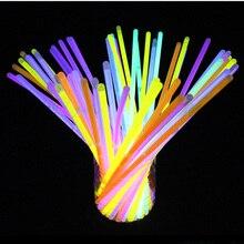 100Pcs/lot Luminous Glow Sticks Bracelets Necklace Night Birthday Christmas Party Supplies Luminous Prop Children's Toys