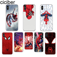 ciciber Marvel Spiderman Phone Case for Apple iPhone 7 8 6 6S Plus 5S SE X XR XS Max for iPhone 11 Pro Max Soft TPU Cover Coque ciciber for iphone 7 8 6 6s plus 5s se x xr xs max soft silicone tpu cover for iphone 11 pro max phone case ariana grande coque