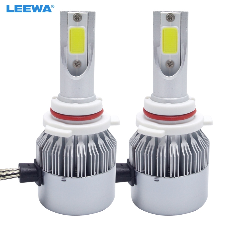Car Lights Automobiles & Motorcycles Generous Leewa 2pcs All In One Car Led Headlight 9006/hb4 2-cob 6000k 72w 7600lm Auto Led Bulb Foglight Headlamp #ca2884 Complete In Specifications
