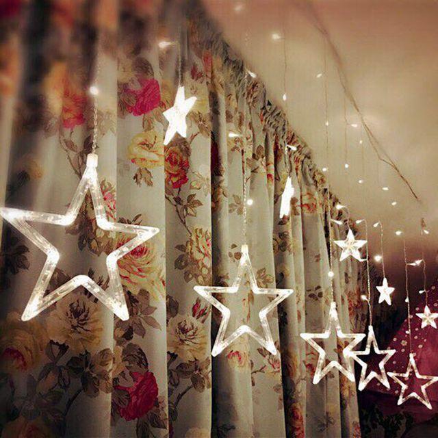 Us 21 35 3 5 M Led Kerstverlichting Ster Fairy Ijspegel Gordijn Flash Licht Partij Vakantie Winkel Xmas Bruiloft Decoratie Licht Connetor In 3 5 M
