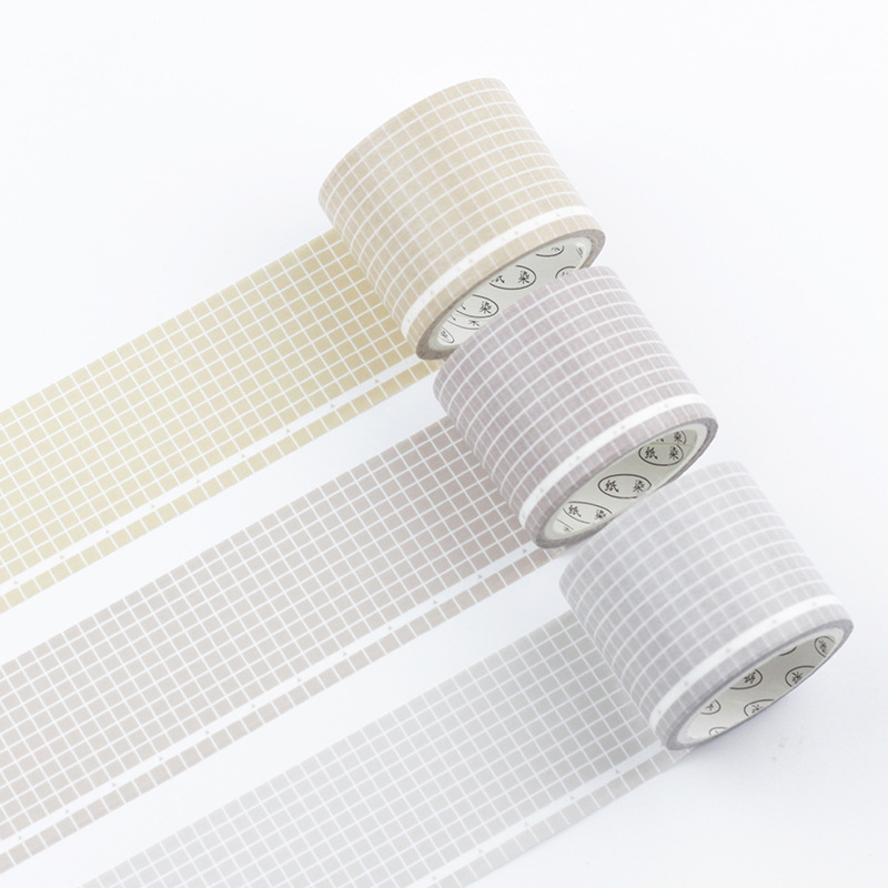 Colorful Grid Series Washi Tape Adhesive Tape DIY Scrapbooking Sticker Label Masking Tape Student Stationery Gift