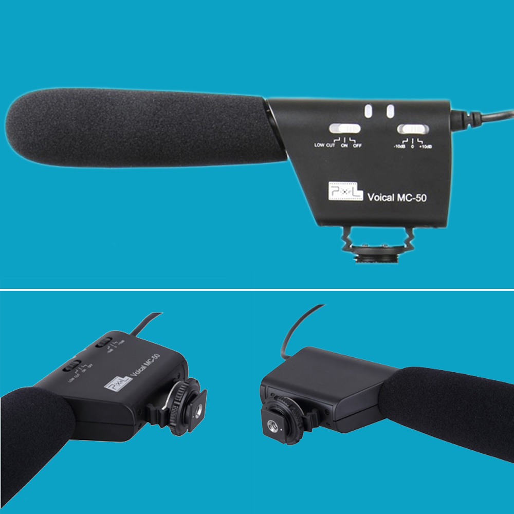 High Quality Pixel MC-50 Microphone for DSLR Camera Camcorder Studio Photographic Photo Video DV Voical Pro Recording Interview
