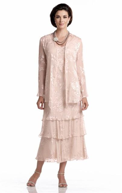 2017 Elegante Mãe Da Noiva Vestidos de Comprimento Chá Vestido Madrinha Preto Feito Sob Encomenda Mãe Dos Vestidos de Noiva de Renda Com jaqueta