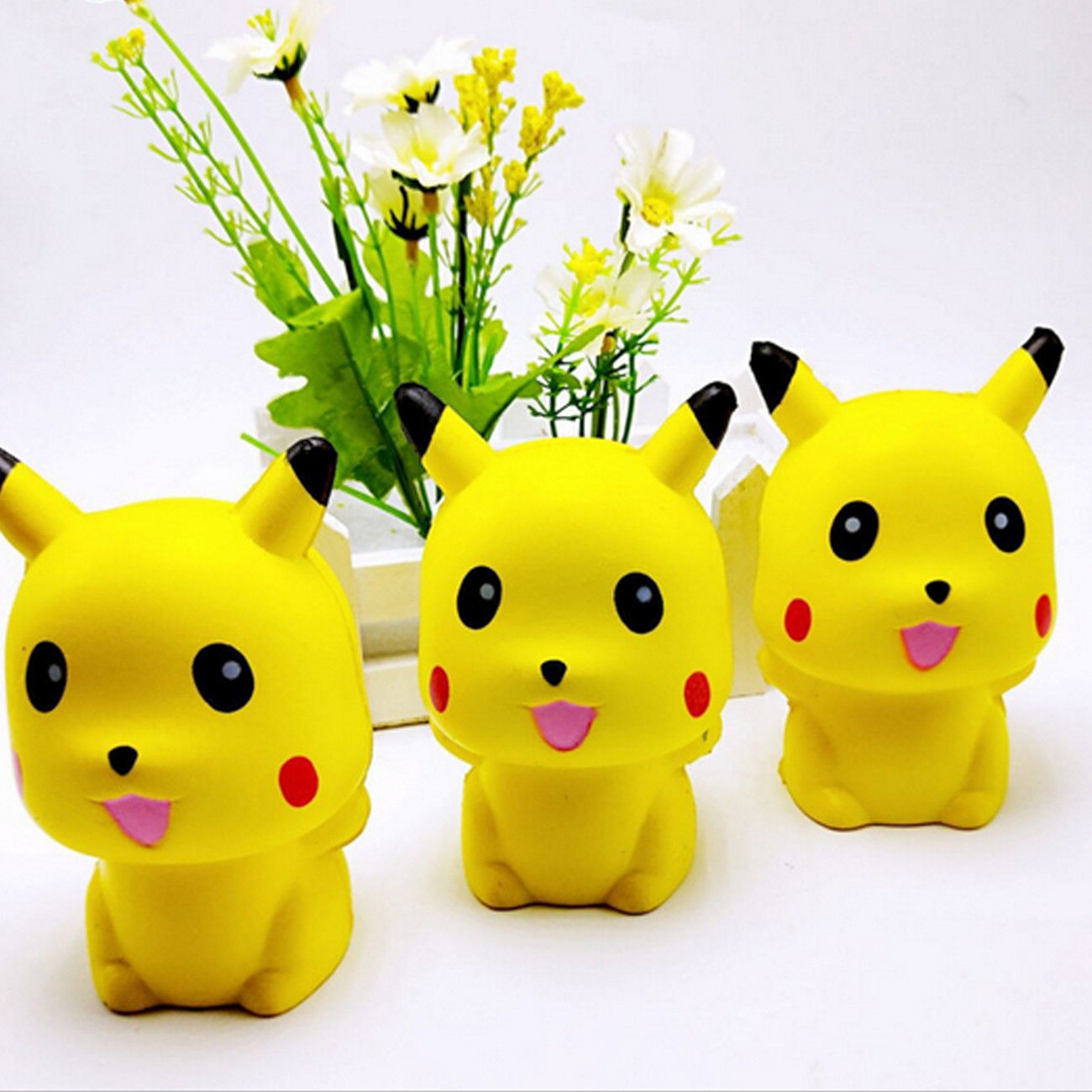 10CM New Squeeze Exquisite Fun Pikachu Squishy Charm Slow Rising Simulation antistress funny gadgets interesting toys fun autism toys hamster squishy decor slow rising kid toy squeeze relieve anxiet gift toys for children pu simulation hamster