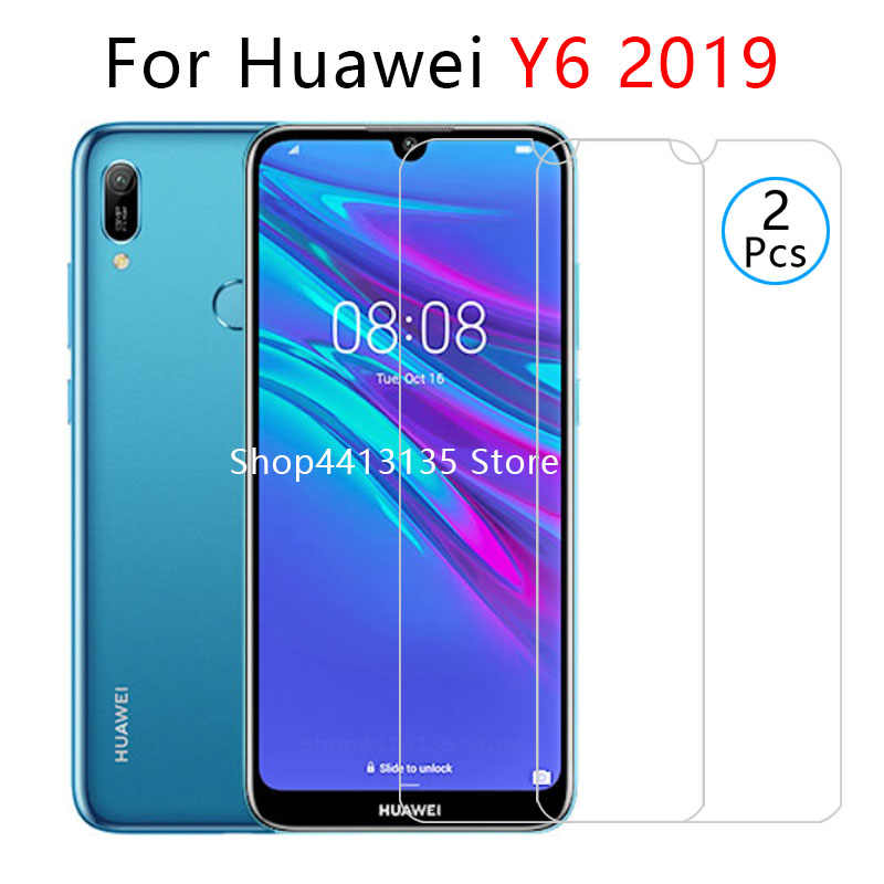 case for huawei y6 2019 case on y62019 y 6 6y y6 prime pro 2019 back cover cases protective phone coque tempered glass 6.09 cas