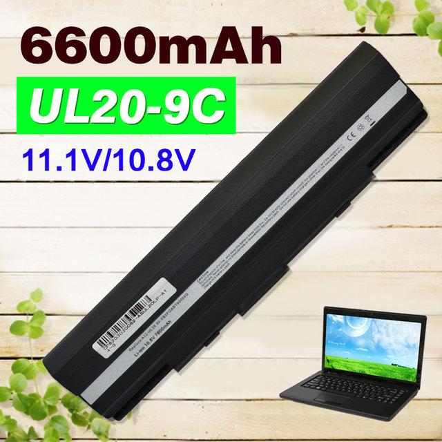 Bateria do portátil para asus a32-ul20 eee pc 1201ha 1201 k 1201n 1201 T 1201X1201 1201 H UL20F UL20FT UL20A UL20 UL20G UL20GU UL20VT