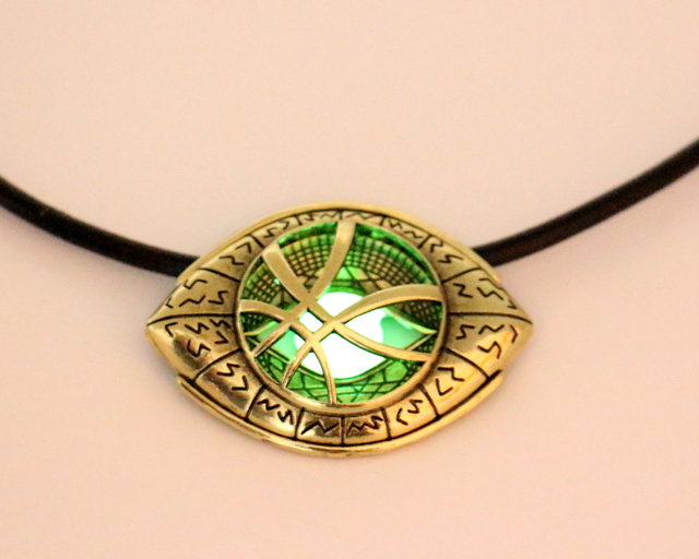 Doctor Strange Necklace Glow in Dark – Eye Shape Antique Bronze