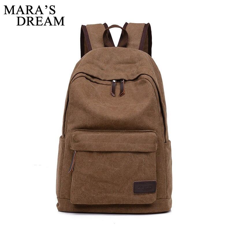 Maras Dream 2018 Men Canvas Backpacks Large School Bags For Teenager Boys Male Travel Laptop Backbag Mochila Rucksack Casual