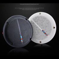 Ravi 1 Pair Waterproof 25W Full Range Marine Boat Ceiling Wall Speakers Lawn Garden Water Resistant