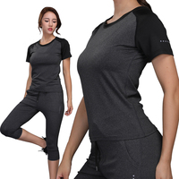 Women Gym Tee 2017 Quick Dry Compression Tights T Shirt Fitness Exercise Training Clothing Sport Running