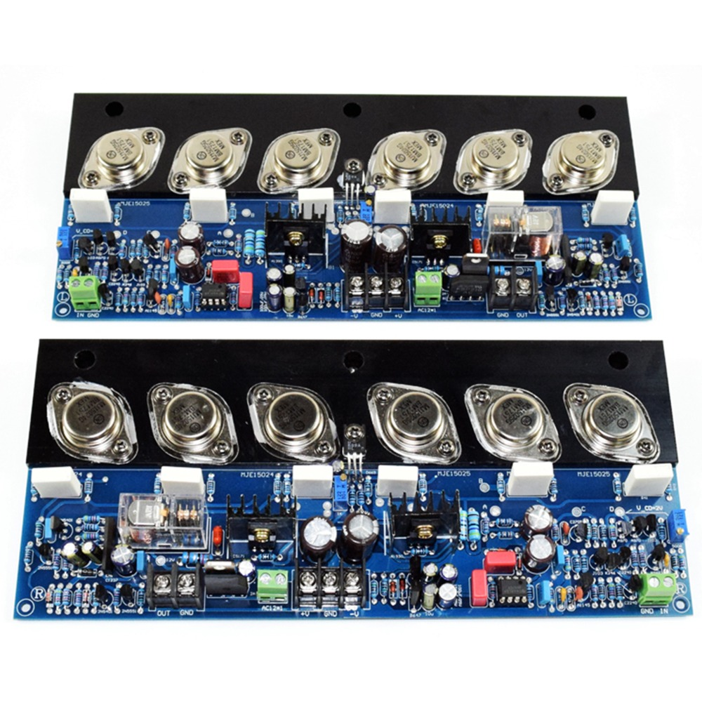 One pair E405 Gold Sealed Tube Pure Final Stage Power Amplifier Board Adjustable Class A High Power HIFI Fever Level MJ15024G
