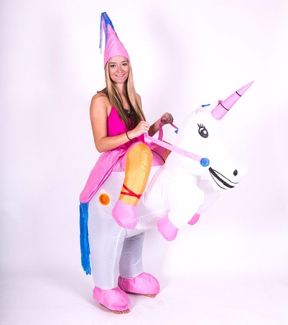 09a1db256ae9 Halloween Costume for Men and Women Costume Unicorn Inflatable Fancy Dress  Purim Adults Airblown Outfits