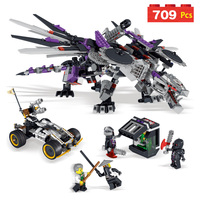 LELE Ninja Series Robot Mecha Dragon Masters Of Spinjitzu Building Blocks Set Compatible LegoINGlys Ninjago Assemble