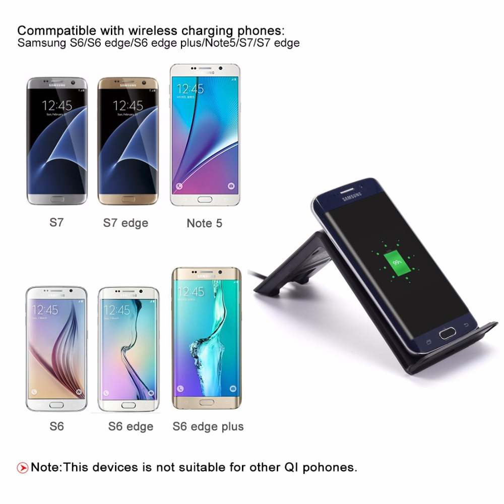 Wireless <font><b>Charger</b></font>,Itian Qi Wireless Charging for iPhone8 iPhone X <font><b>Samsung</b></font> Galaxy Note8/S8/S8+/S6 edge/S6 edge+/Note5/S7/S7 edge image