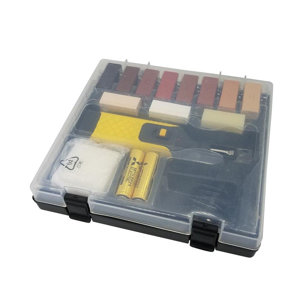 Купить с кэшбэком Laminate Floor Repair Kit  11 Color Wax Blocks for Repair Damaged Laminated Flooring Kitchen Worktops