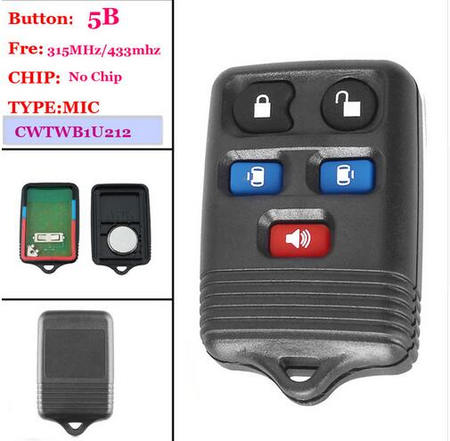 Good Quality(1 Piece )Keyless Entry Key Fob Remote Key 5 Buttons 315MHZ For Ford Expedition Mercury Lincoln Navigator Freesta