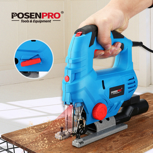 Image 5 - POSENPRO 800W Laser Jig Saw Variable Speed Multifunctional Jigsaw Electric Wood Saw Metal Ruler 2pcs Saw Blades for Woodworking