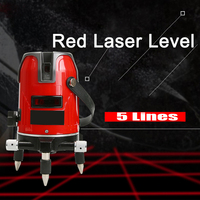 8 Times Brightness Touch Button LM550 5 Lines 3 Point Red Laser Level 360 Degree Self leveling Cross Red Lines Laser Level