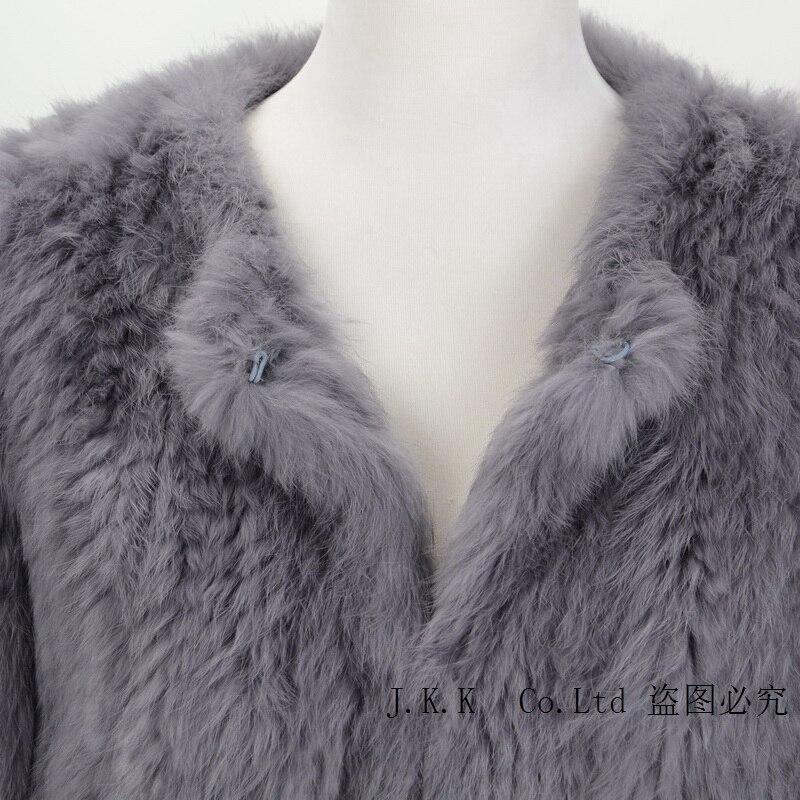 Mode Design Gros Real Lapin De Fourrure 2017 Nouveau black Cream Veste Tricoté En Détail Femmes Max Épais Hiver au grey Jancoco S1607 xIqwOcZP0W