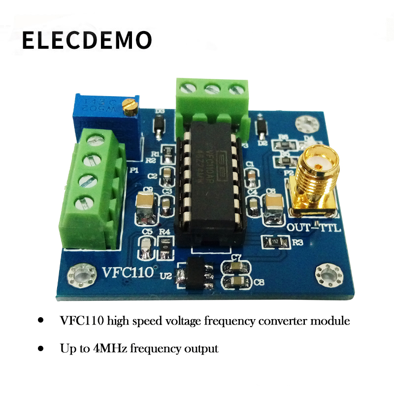 Image 2 - VFC110 Voltage to frequency module High speed voltage to frequency conversion module  internal 5V reference built in 4M output-in Demo Board Accessories from Computer & Office