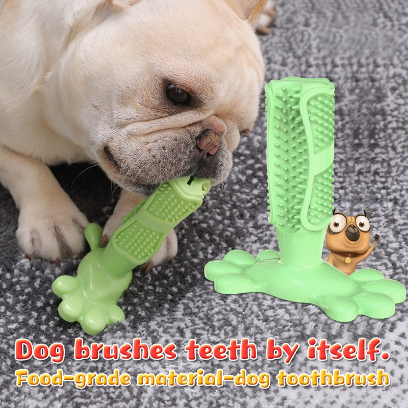 Pet Dog Playing Molar Toothbrush Non Toxic Rubber Chew Toy for Small Medium Dog Puppy Toothbrush Teeth Training Toy Dropshipping