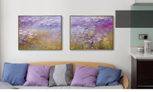 seascape canvas print  poster scenery mural home art painting waterlilies By Claude Monet