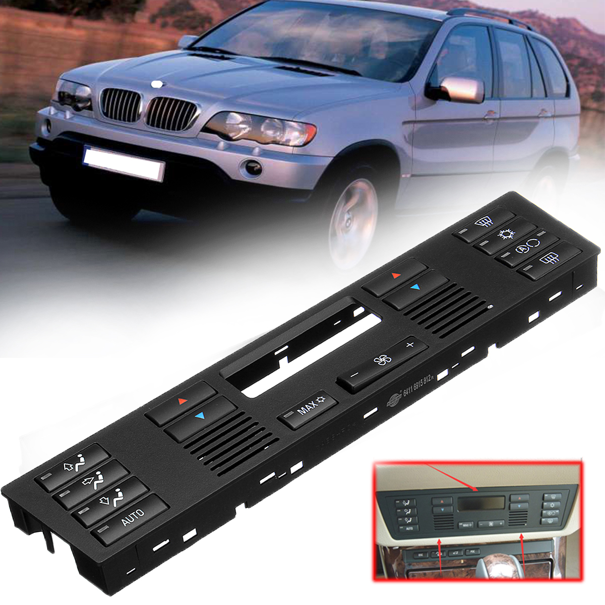 Car Air Conditioning Control Panel keys For BMW 5 Series E39 X5 E53 ABS Plastic Heater Control Air-conditioning Seat Switch