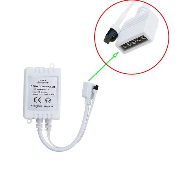 RGBW Led Controller 5 Pin 40Key DC12-24 V 2A * 4 Kanal Dimmer IR Fernbedienung Für 5050 3528 RGBW Led Streifen CA