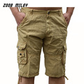 Fashion Men Military Cargo Shorts Multi-pocket Cotton Loose Fit Baggy Beach Workout Cargo Short Trousers Large Size