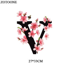 Parches Iron-on Transfers Flower Lettert Patches For Girl Clothes Heat Transfer Vinyl For T-shirts DIY Applique Transfer Sticker parches cartoon cat heat transfer vinyl for t shirts iron on transfers patches for clothing thermal transfer sticker washable e