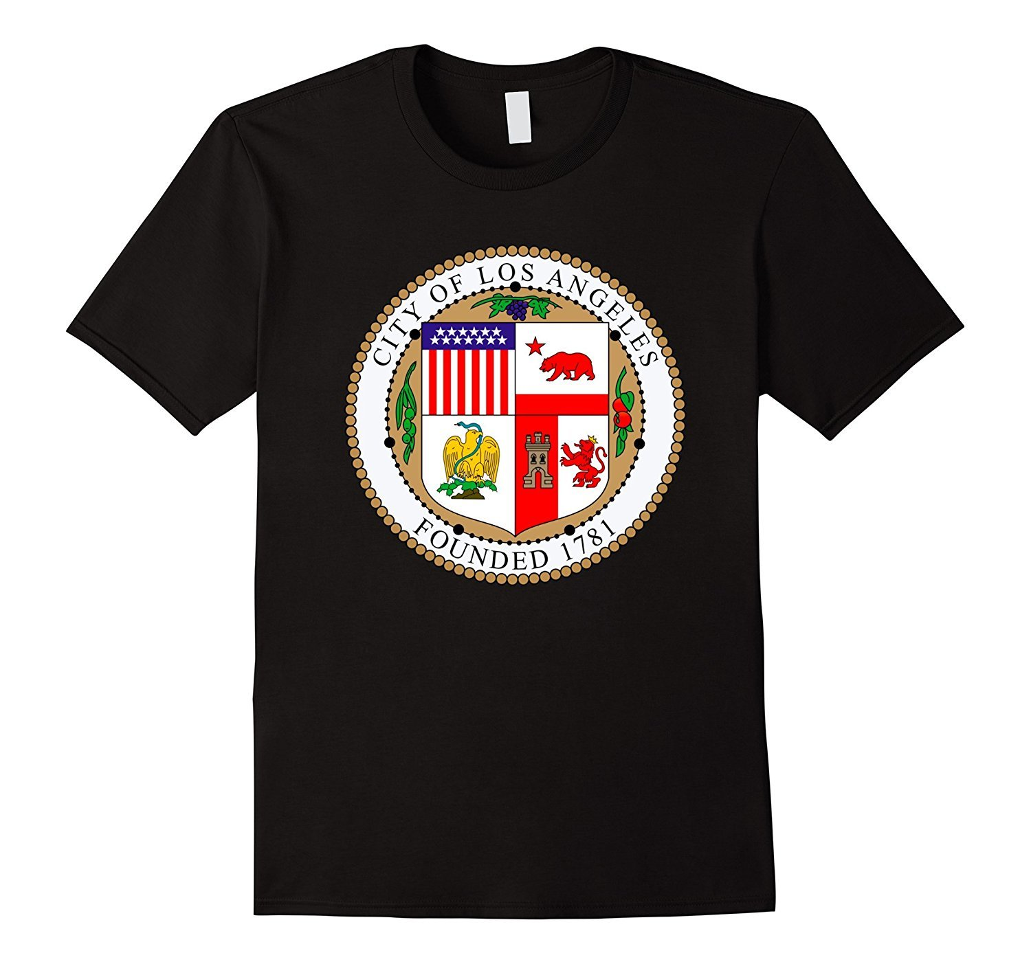 2019 Nieuwe Zomer Cool T shirt Los Angeles California City Seal I Love Los Angeles Grappige T shirt in T Shirts from Men 39 s Clothing