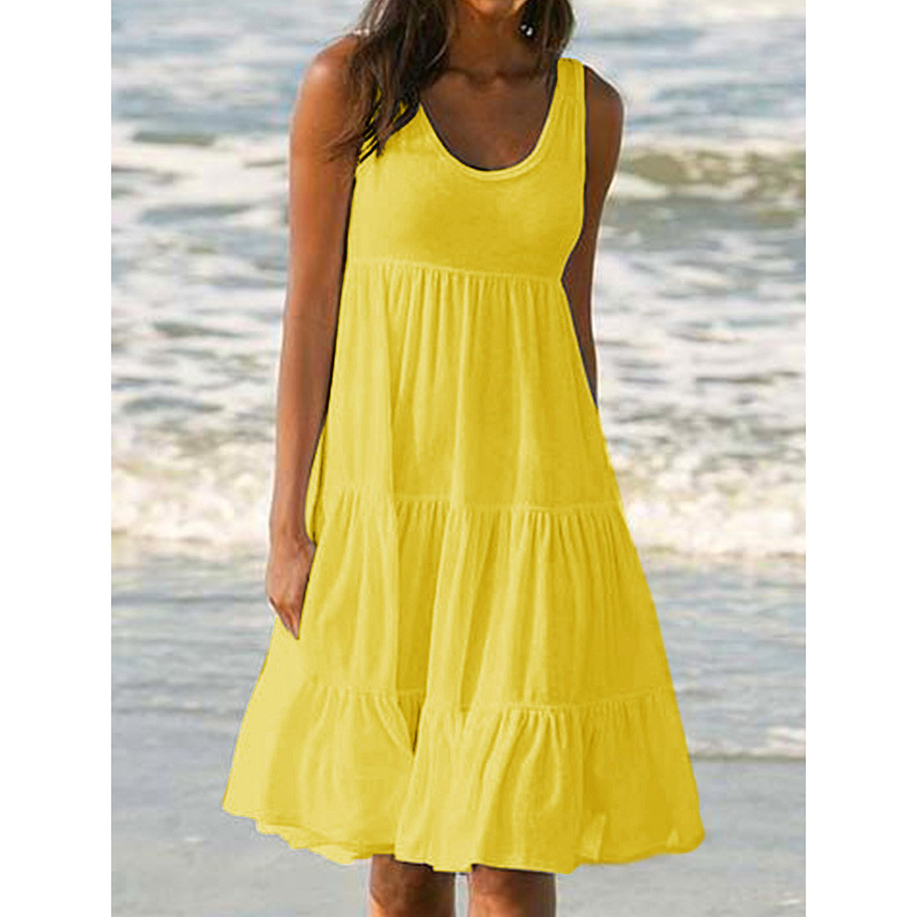 Tunic Robe Bathing-Suit Bikini Cover-Up Beach-Dress Knitting Sexy Womens Summer Sleeveless title=