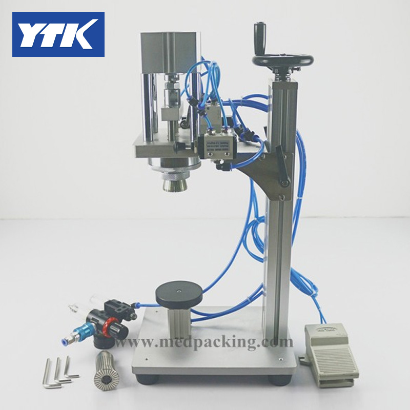 YTK Best-seller Pneumatic Perfume Capping Machine for Perfume Spray Cap