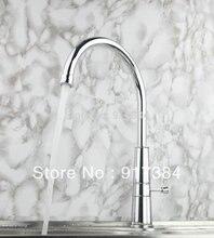 Однорычажный бортике Поворотный Chrome Ванная комната/Кухня смеситель кран de-0196