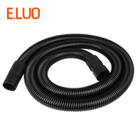 Universal 30L Black High Temperature Flexible Threaded Hose +ABS connector adapters Of industrial Vacuum Cleaner