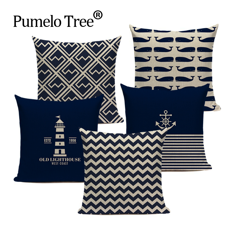 New Design Throw Pillows Nordic Style Linen Plaid Stripe Cojines Almofada 45Cmx45Cm Square Home Decorating Almofadas Fundas