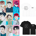 Kpop exo sehun xiumin kar baekhyun exo terra etiqueta t-shirt mujeres t-shirt mujeres camiseta harajuku exo