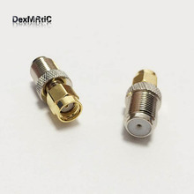 1pc  RF Adapter RP SMA Plug Male Switch F Jack Female RF Coaxial Adapter Straight  Wholesale
