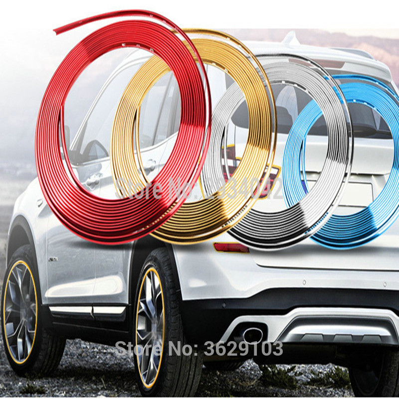 8m car-styling upgrade plating contour decorative adhesive paste accessories for Opel Mokka zafira corsa astra insignia vectra