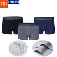 3 PCS Xiaomi Mijia UREVO מודאלי גברים של תחתונים גברים Qucik יבש סקסי תחתוני גבר לנשימה להחליק נוח תחתונים תחתונים