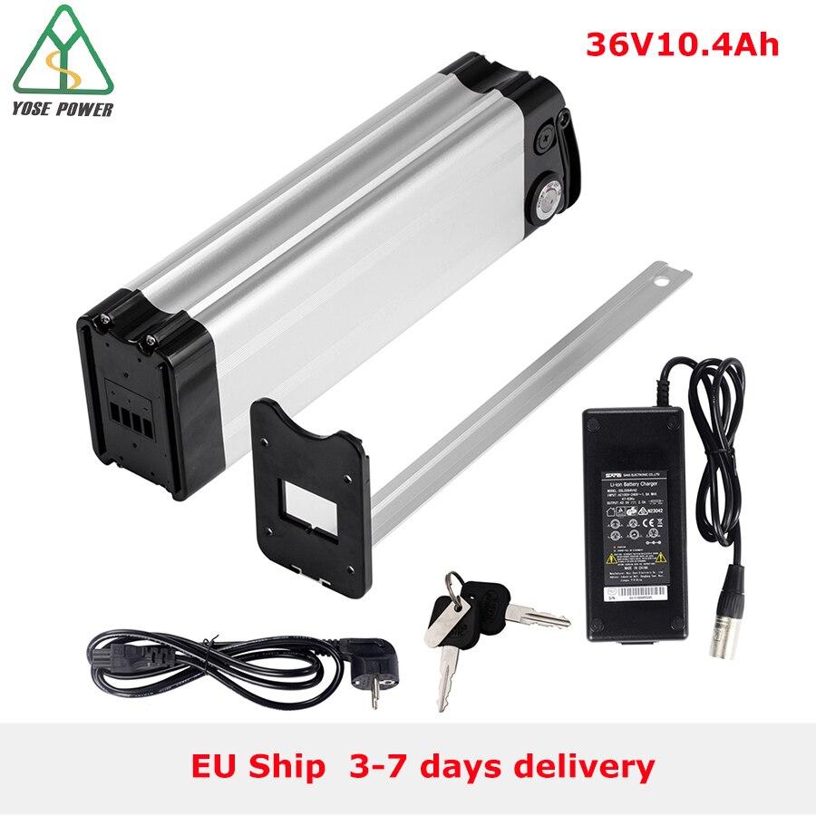 YOSE POWER vélo électrique E vélo batterie 36 V 10.4Ah Lithium batterie Pack argent poisson siège Tube batteries batterie velo electrique