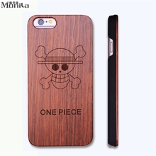 Check Price Monila Retro One Piece Real Handmade Wood Case For Iphone 5 5s 6 6s 6 plus Wood Carving Case + PC ,free shipping