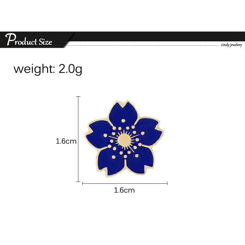 059 42 De Réductionbande Dessinée 5 Couleur Mini Cerise Broche Fleur Simple Style émail Broches Broches Vestes En Denim Revers Badge Broches